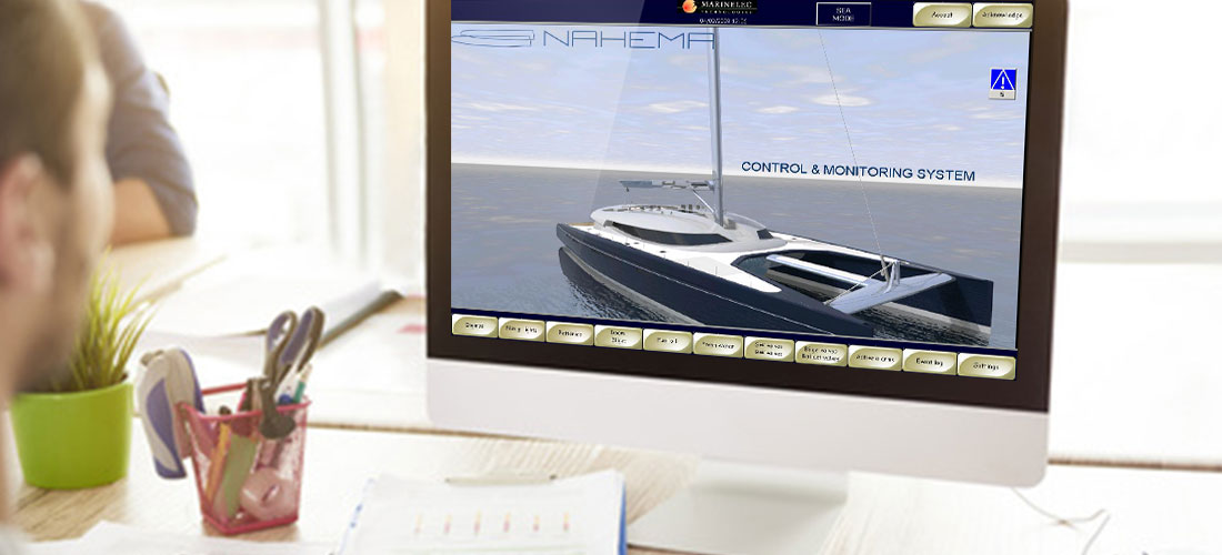 Project management of complete systems during the building of a Yacht